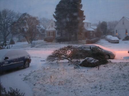 snow so far, 7 AM